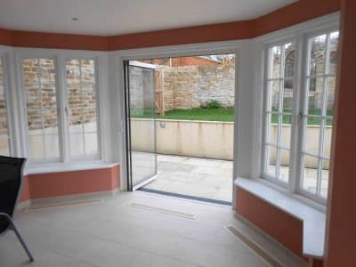 Frameless French doors