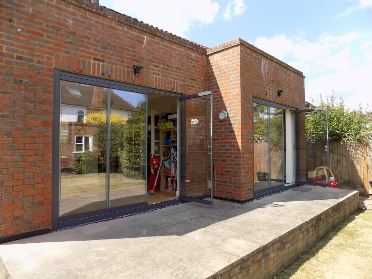 Powder coated bifolding doors in New Malden Surrey