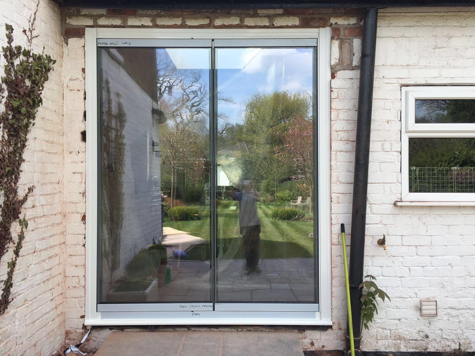 Frameless bifolding doors give you wider door panels