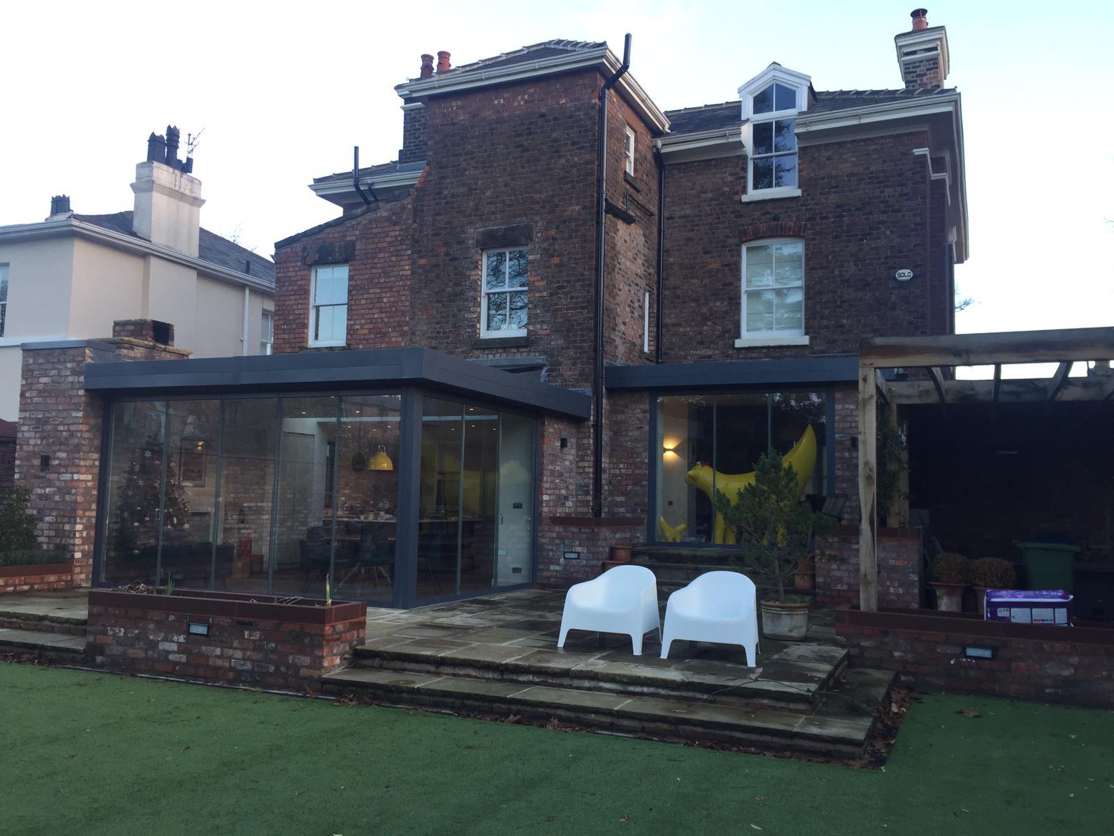 Merseyside Frameless Glass Extension