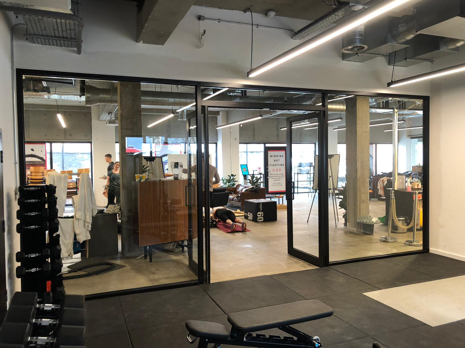 Commercial doors for gyms